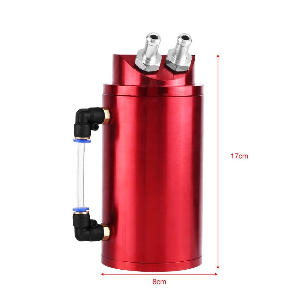 R/éservoir d/'huile Moteur R/éservoir de R/écup/ération d/'huile Moteur Universel en Alliage d/'aluminium avec Tuyau 10//15mm pour Eliminer les Vapeurs et Emp/êche Accumulation de Carbone