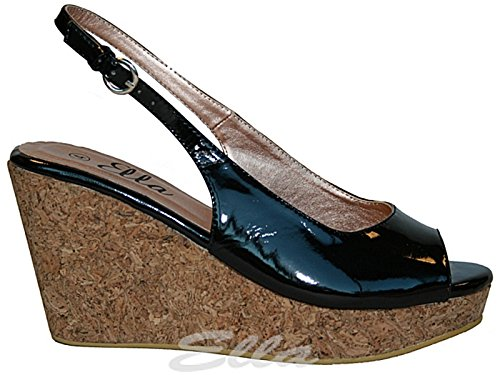 Foster Footwear - Wedges mujer negro (black patent)