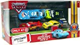 Disney / Pixar CARS Movie Exclusive 1:55 Die Cast Piston Cup Nights Speedway 4-Pack [Lightning McQueen, The King , Trunk Fresh #34 & RPM #64]