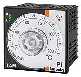Autonics TAM-B4RJ3C Temp Control, DIN W72XH72mm, Analog, PID Control, Relay Output, J Thermocouple, 300 C, 100-240 VAC