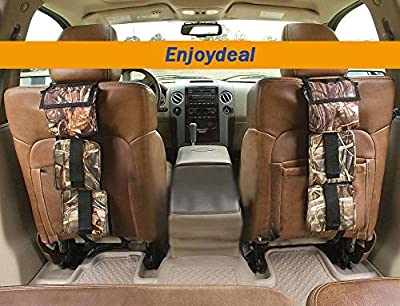 Enjoydeal High Performance Hunting Gear Back Seat Gun Sling Holder Gun Rack Universal Fit for Truck SUV Car Storage for Hunting Sports,Shooting Accessories, Sling Pair Storage Organizer for 3