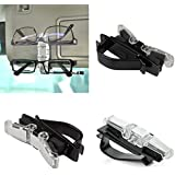 Cellfather™ Car Auto Sun Visor Glasses Clip Pen Card Ticket Mount Holder Double Clips Sunglasses Holder for Car