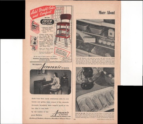 Cosco Metal Stools Acrosonic Baldwin Piano 1947 Vintage Antique Advertisement (Vintage Piano Stool compare prices)