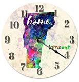 VERMONT STATE HOME CLOCK Large 10.5'' Wall Clock - 2151
