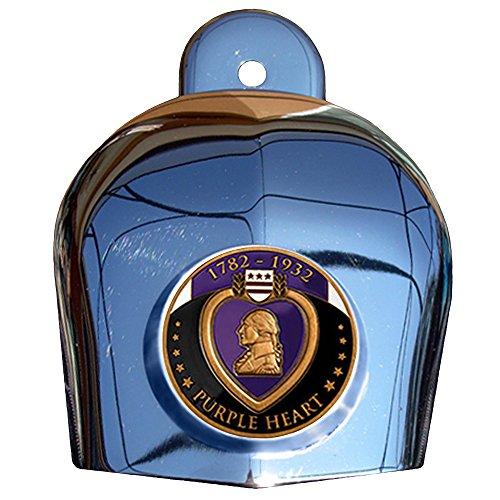 MotorDog69 Purple Heart Harley Horn Cover Coin Mount Set......