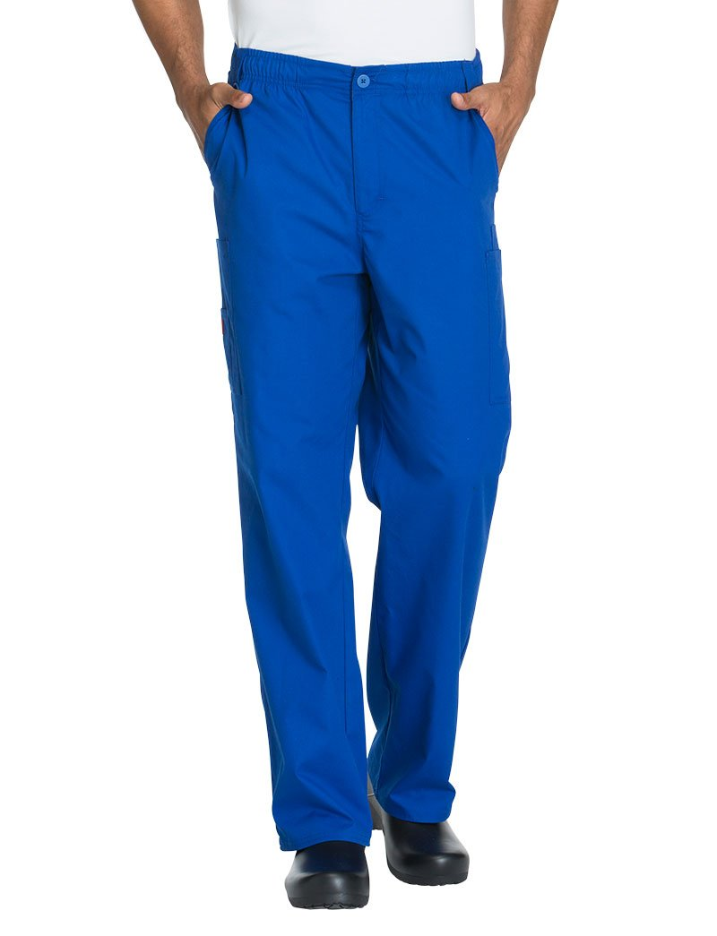 Dickies EDS Signature by Men's Zip Fly Pull On Scrub Pant Medium Tall Galaxy Blue