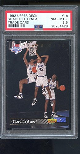 1992 Upper Deck Rookie Card - 1992-93 Upper Deck Trade #1b Shaquille O'Neal ROOKIE PSA 8.5 Graded Card Shaq