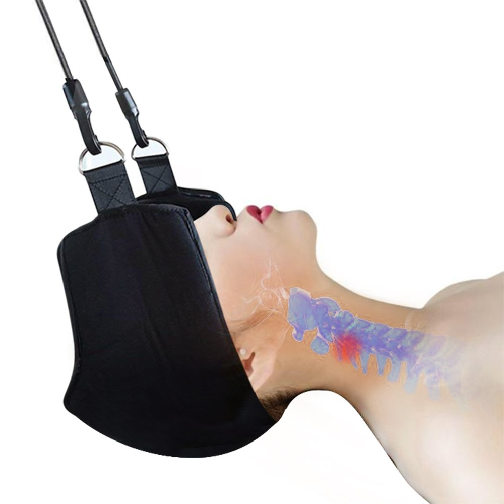 Portable Cervical Traction and Relaxation Device. Easily Attach to Any Door Or Railing for Chronic Neck and Shoulder Pain Relief in 10 Minutes Or Less