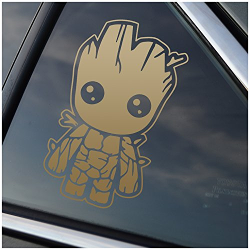 - Stick'emAll Baby Groot - Metallic Gold Vinyl Decal