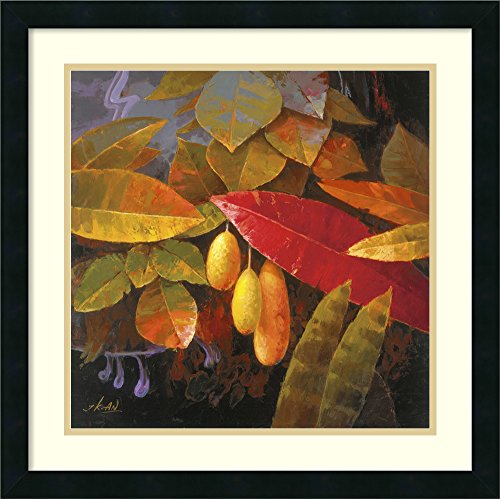 Jung Tropical Print - Framed Art Print, 'Tropical Leaves I' by Jung K. An: Outer Size 22 x 22
