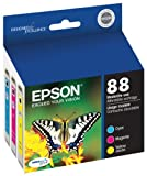Epson T088520-S 88, Color Ink Cartridges, Moderate Capacity, C/M/Y 3-Pack, Multicolor