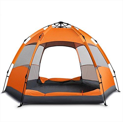 乱すライムラボ完全自動テントマルチレイヤーダブル3-7人六角テントアウトドアキャンプキャンプ防雨 ター プ 大容量軽量防水 UVプロテクション