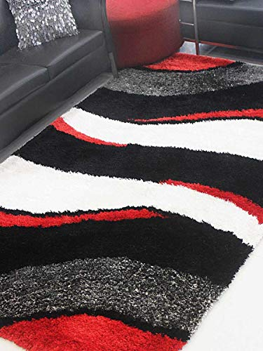 Rugsotic Carpets Hand Tufted Shag Polyester 9' X 12' Area Rug Contemporary Multi K00029
