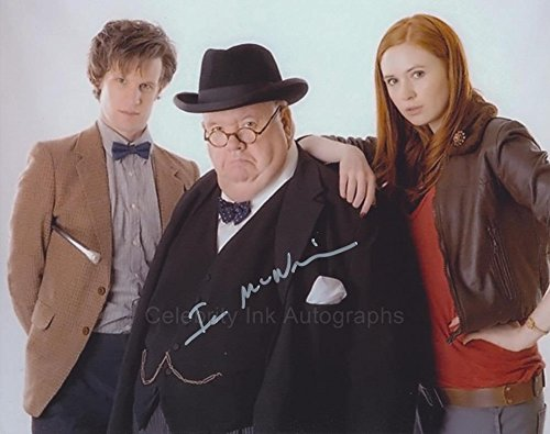 IAN McNEICE as Winston Churchill - Doctor Who GENUINE AUTOGRAPH