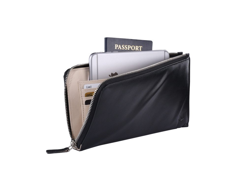 Silent Pocket RFID Blocking Leather Clutch Handbag Perfect For Protecting Credit Card Data And Preventing Identity Theft