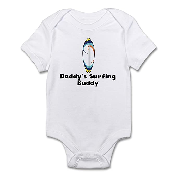 2fdf20faf5 Amazon.com: CafePress Daddys Surfing Buddy Body Suit Baby Bodysuit ...