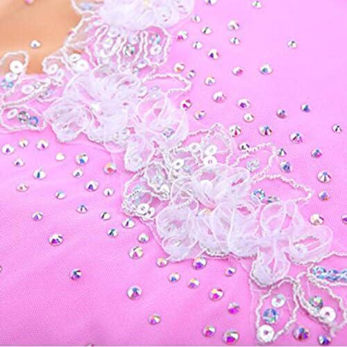 SVCDFVBCD SDVSDF Eiskunstlaufkleid Damen M/ädchen Eiskunstlaufkleider tragbar Atmungsaktiv Handgemacht Langarm Leistung Eiskunstlaufkleidung Hochelastisch