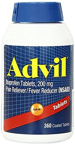 Advil Tablets, 200mg - LargerSize 5 Pack (360 Tablets Each )