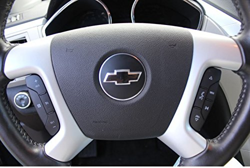 Color: Flat Black 2007-2014 Chevrolet Tahoe Reflective Concepts Steering Wheel Bowtie Overlay Decal