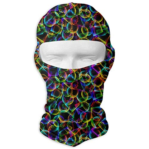 HANBINGPO Abstract Cartoon Bell Men Women Balaclava Neck Hood Full Face Mask Hat Sunscreen Windproof Breathable ()