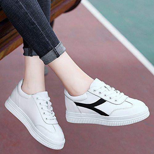 NGRDX&G Zapatos Blancos Estudiante Casual Zapatos Mujer Zapatos Zapatillas, Blanco, 37 White