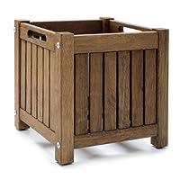 Ikea - Cache-pot en bois massif NORDBY - 40x40cm - résistant aux intempéries