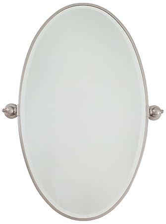 Minka Lavery 1432 84 Raiden Oval Bath Mirror X Large Brushed Nickel