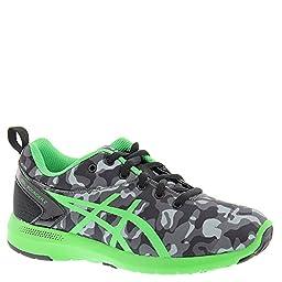 ASICS Boys\' Bounder GS Running Shoe, Carbon/Shamrock/Black, 5 M US Big Kid