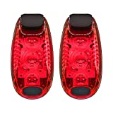 2 Pack LED Safety Light Clip, Clip On Running Lights for Walking, Cycling, Kids, Bikes, Helmets, Reflective Gear.