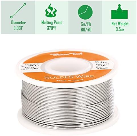 444 cm of  60//40 Tin Lead Solder 1.01 mm dia Low Melt Resin Core Electronics F//S