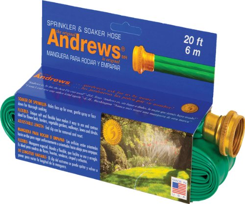 A.M. Andrews 7012350 2-in-1 Flexible Sprinkler and Soaker Ho