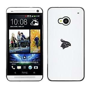 Be Good Phone Accessory // Dura Cáscara cubierta Protectora Caso Carcasa Funda de Protección para HTC One M7 // rabbit symbol