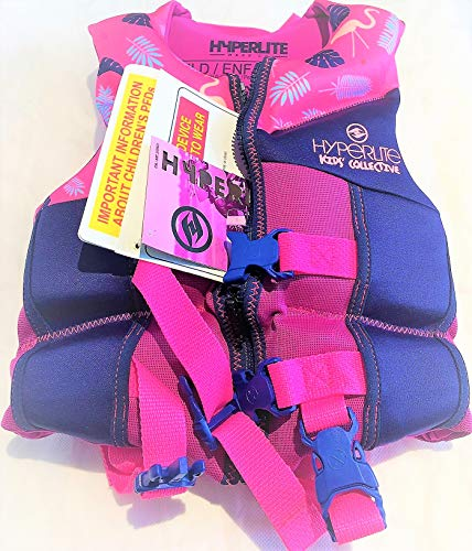 (Hyperlite Wake Co Kids Collective Life Vest 33-55lbs USCG/TC Approved - Child - Pink/Purple)