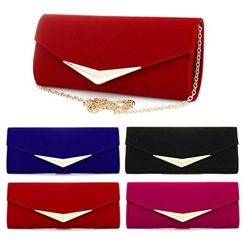 YYW Evening Bag - Cartera de mano para mujer Red