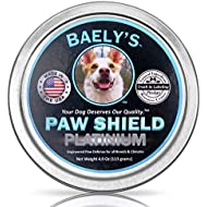 Dog Paw Balm Protection Wax - The Original Made in America Paw Shield - 4 oz vs their 2 oz - Relief for Raw Dry Rough Paws | Paw Protector for Mushers | Secret All-Natural Relief for Hot and Cold Paws