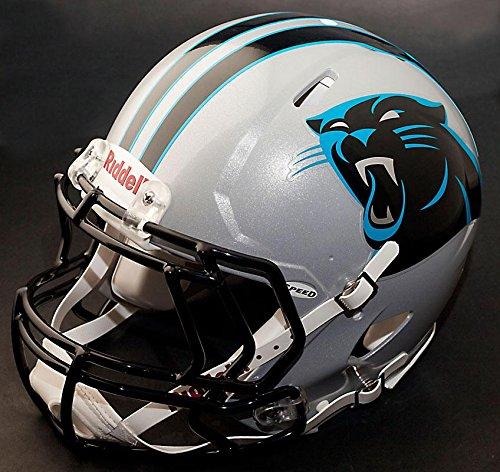 Replica Helmet Carolina Panthers Riddell (Riddell Speed CAROLINA PANTHERS NFL REPLICA Football Helmet with S2EG Football Helmet Facemask/Faceguard)