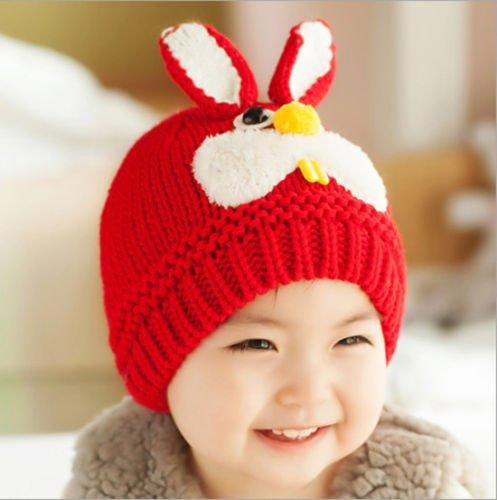 e349ceaae 1pc Girl Boys Crochet Bunny Kids Baby Bonnet Hat Cap Beanie Hair Accessories