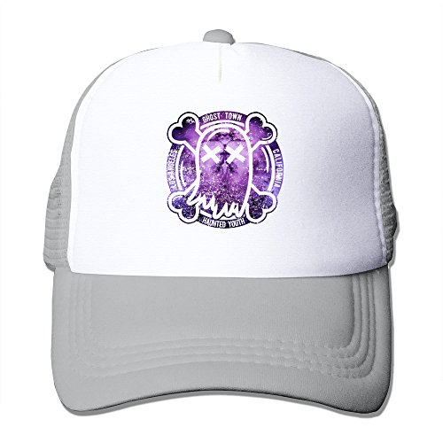 (LQYG Purple Ghost Hip-Hop Cotton Hats Rowing Cap For Outdoor Sports Ash)