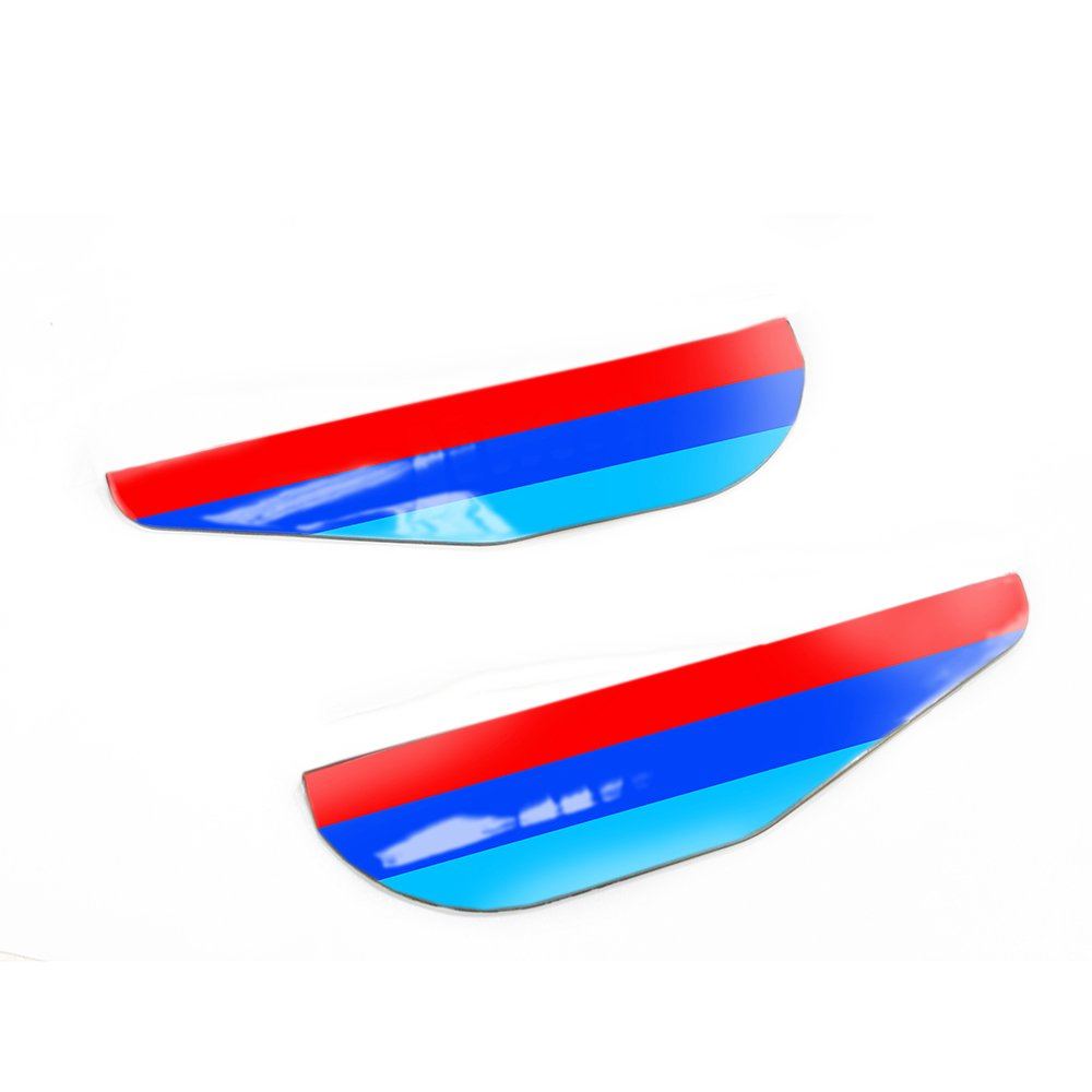 3D M styling Rain Eyebrow Board For BMW 7 series Rain Remover Mirror Visor Side Mirror Cover Rainproof Car Accessories View Limited Accident Prevention G11 G12 740i 740Li 750i 760i etc.2pcs set