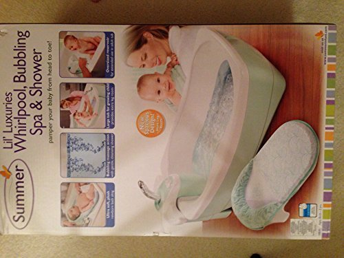 Summer Infant Lil Luxuries Whirlpool, Bubbling Spa & Shower Tub ...