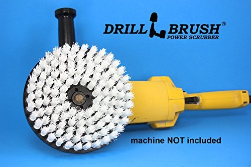 round nylon 7 inch scrub brush for rotary buffers and polishing machines