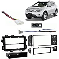 Fits Nissan Murano 09-12 w/o Bose Single/Double DIN Harness Radio Dash Kit
