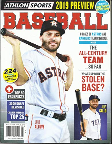 ATHLON SPORTS BASEBALL MAGAZINE, 2019 MLB PREVIEW HE ALL CENTURY TEAM SO FAR ISSUE, 2019 VOL. 32 ( PLEASE NOTE: ALL THESE MAGAZINES ARE PET & SMOKE FREE MAGAZINES. NO ADDRESS LABEL. FRESH FROM NEWSSTAND) (SINGLE ISSUE MAGAZINE)