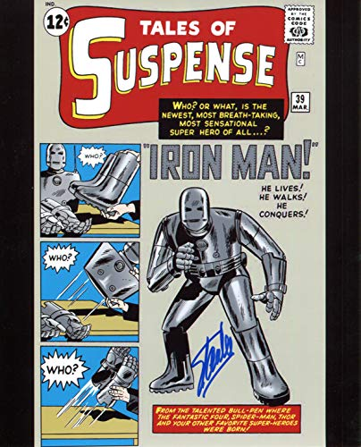 Stan Lee Signed/Autographed Tales Of Suspense 39 First Iron Man 8x10 Glossy Photo. Includes Fanexpo Certificate of Authenticity and Proof. Entertainment Autograph Original from Star League Sports