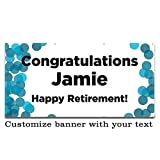 Buttonsmith Custom Color Dots Banner 6'x3' - Indoor/Outdoor - Personalize with your text - Designed, Printed, and Assembled in USA