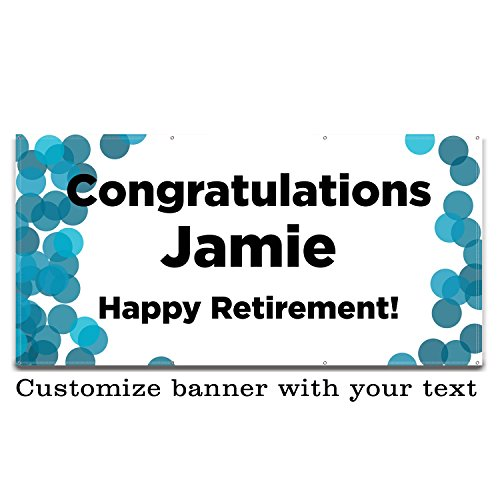 Buttonsmith Custom Color Dots Banner 6'x3' - Indoor/Outdoor - Personalize with your text - Designed, Printed, and Assembled in USA by Buttonsmith