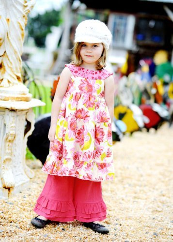 Portabellopixie Gracie Dress Top Skirt Sewing Pattern for Girls