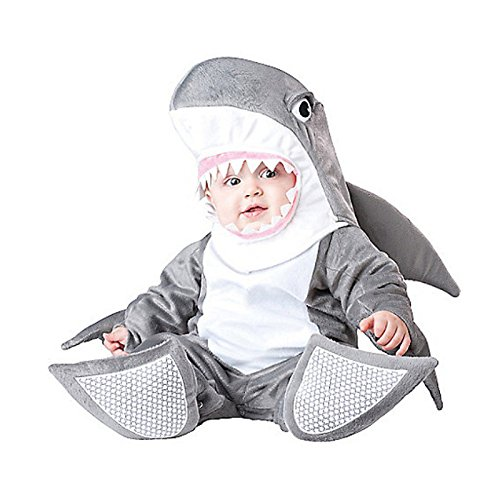 Dantiya Baby Little Shark Halloween Play Romper Costume 12-18M