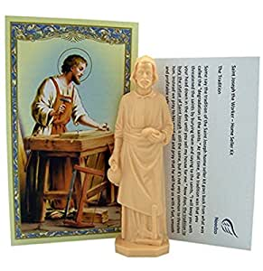 religious gifts saint joseph statue home seller kit with prayer card and. Black Bedroom Furniture Sets. Home Design Ideas