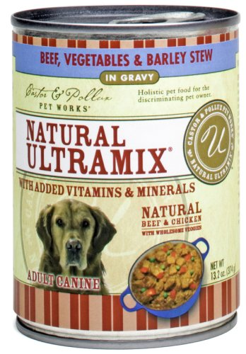 Castor and Pollux Ultramix Canine Fomula, Beef, Vegetables and Barley, 13.2-Ounce Cans (Pack of 12), My Pet Supplies